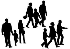 Walk family Royalty Free Stock Photography