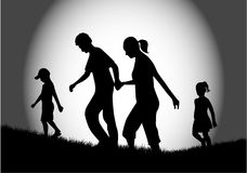 Walk of family - night Stock Image