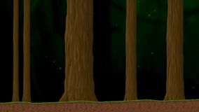 A Walk in the Forest with Trees and Particles Animated Cartoon