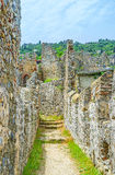 The walk on fortress wall in Alanya Royalty Free Stock Image