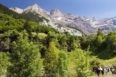 Walk on french Pyrenees Royalty Free Stock Photo