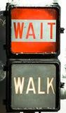 Walk går inte signalerar Royaltyfria Foton
