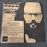 Walk of Gay, the Rainbow Honor Walk, Allen Ginsberg. stock photo