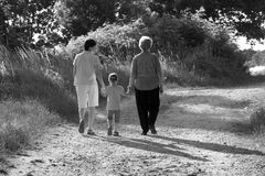 Walk with grandmother Royalty Free Stock Photo