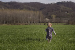 Walk in the grass Stock Photography