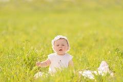 Walk in Green Grass Stock Image