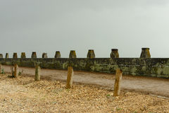 Walk at Hailying island shingle beach, Hampshire Royalty Free Stock Photo