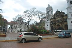 Casco Antiguo, Republic of Panama. Colonial Area. Walk through the historic area of Casco Antiguo, an area of great history where buildings of great Stock Photography