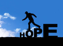 Walk with hope Royalty Free Stock Photos