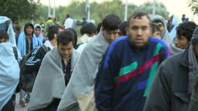 Walk in the hope of a right life-European refuges crisis