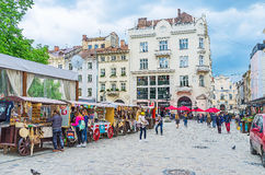 Walk In Old Lvov Royalty Free Stock Photos