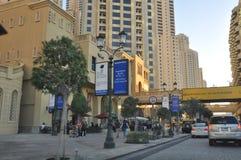 The Walk at Jumeirah Beach Residence in Dubai Stock Photos