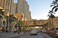 The Walk at Jumeirah Beach Residence in Dubai Stock Images