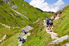 Walk from Kasprowy Wierch to Czerwone Wierchy Royalty Free Stock Photos