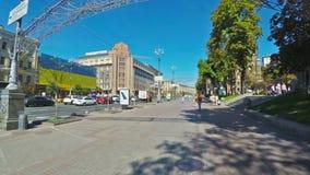 Walk in Khreshchatyk avenue stock video footage