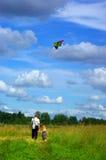 Walk with kite royalty free stock photo