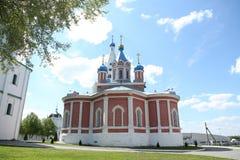 Tikhvin temple, built in 1776. Kolomna Kremlin. Kolomna. Russia. A walk through the Kolomna Kremlin in May stock images