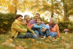 Walk a large family Royalty Free Stock Images