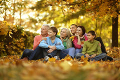 Walk a large family Stock Photography