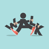 Walk With Legs Typography Design Royalty Free Stock Photo
