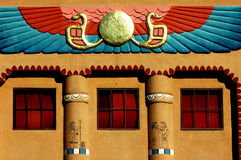 Walk like an egyptian. Detail of facade on Egyptian Theatre in Delta Colorado Royalty Free Stock Image
