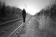 Walk the line! Stock Images