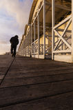 Walk the line Royalty Free Stock Images