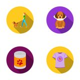 Walk, man, protection, collar, food.Dog set collection icons in flat style vector symbol stock illustration web. Walk, man, protection, collar, food.Dog set Stock Photos