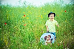 Walk on a meadow Stock Photography