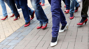 Walk a Mile in Her Shoes Royalty Free Stock Photo