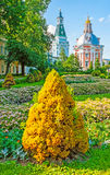 Walk in Monastery garden in Sergiyev Posad Royalty Free Stock Photos
