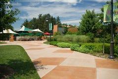 Walk at Morton Arboretum. Concrete walk at Morton Arboretum, Chicago Stock Photography