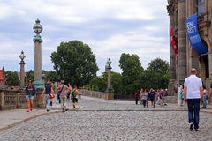 Walk on the Museum Island in center of Berlin Royalty Free Stock Photos