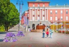 Haugesund city hall. Summer in Norway stock image