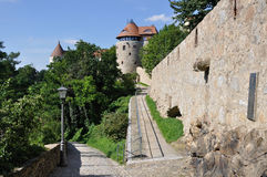 Walk near city-walls, bautzen Stock Photo