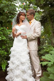 The walk of newlyweds Royalty Free Stock Image