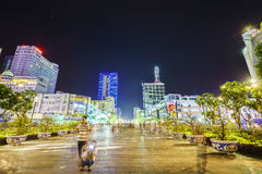 : Walk Nguyen Hue Street, Ho Chi Minh City, Vietnam Royalty Free Stock Photos