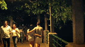Walk Night Italy in August 2015. Slow motion stock footage