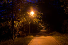 Walk at night Royalty Free Stock Images