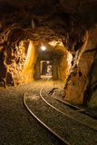 Walk the old abandoned mine. Harrachov, Czech Republic royalty free stock image