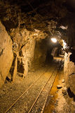 Walk the old abandoned mine royalty free stock images