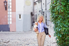 Walk in an old city Royalty Free Stock Photography