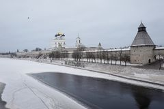 Ov Krom the Kremlin built the end of the XI century - the beginning of the XII century. Russia. royalty free stock image