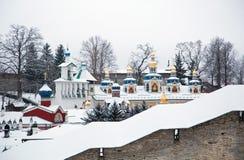 Free Walk On Pskovo- Pechersky Monastery In Winter Royalty Free Stock Photos - 84304148