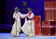 "Walk out by carrying each other-Kunqu Opera ""the West Chamber"" Royalty Free Stock Images"