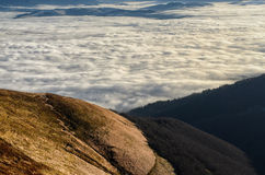 Walk over the clouds Royalty Free Stock Photography