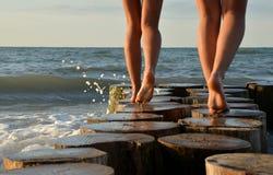 Walk over the ocean Stock Photography
