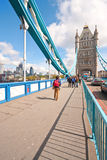 A walk over Tower Bridge Royalty Free Stock Photo