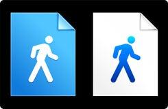 Walk on Paper Set Stock Images