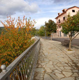 Walk in the park. Walking in the sardinian village in the autumn Royalty Free Stock Photography